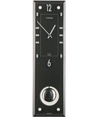 Nástěnné kyvadlové hodiny Twins 9048 black 45cm