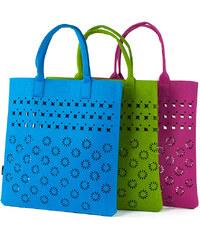 b0f5c745f0 Art of Polo Dámská filcová kabelka Shopping Bag - grey tr15113.7