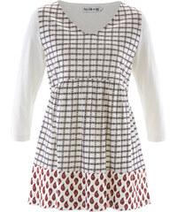 bpc bonprix collection T-shirt multi-motif manches 3/4 - designed by Maite Kelly blanc femme - bonprix