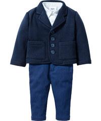 bpc bonprix collection Veste bébé + chemise + pantalon (Ens. 3 pces.) bleu enfant - bonprix
