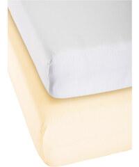 bpc living Draps-housses jersey microfibre, Lot de 2, microfibres jersey blanc maison - bonprix