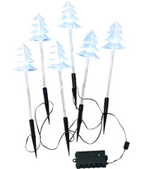bpc living Lot de 6 décorations outdoor à LED Sapins de Noël incolore maison - bonprix
