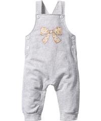 bpc bonprix collection Salopette bébé sweat coton bio blanc enfant - bonprix