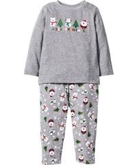 bpc bonprix collection T-shirt bébé à manches longues + pantalon (Ens. 2 pces.) coton bio gris enfant - bonprix