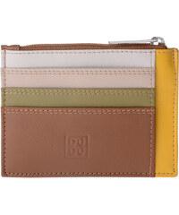 Dudu Portefeuille Petite pochette porte-cartes de crédit en cuir véritable multico