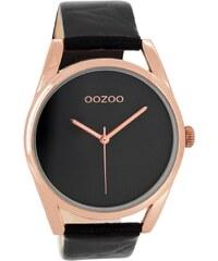 OozooC7589 Damenuhr Schwarz c7589
