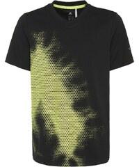 adidas Performance URBAN FOOTBALL Tshirt imprimé black/solar yellow/night metallic