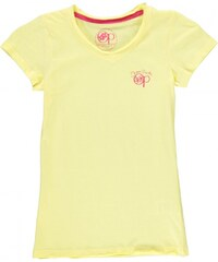 Ocean Pacific Long V Neck T Shirt Junior Girls, yellow