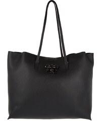 Versace Sacs à Bandoulière, Palazzo Open Shopper Leather Nero en noir