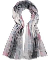FRAAS Polyester-XXL-Schal mit Schneeflockenmuster in grau