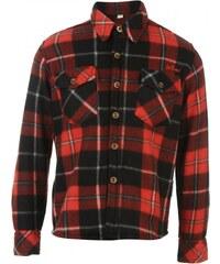 Lee Cooper Long Sleeve Check Shirt Junior, red/black