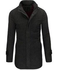 Exkluzivní moderní tmavě šedý pánský kabát