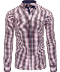 Moderní pruhovaná červená pánská košile
