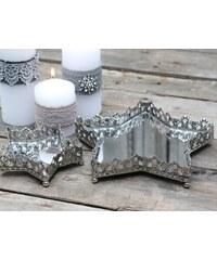 Chic Antique Zrcadlový tácek-hvězda Antique silver