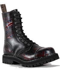 STEEL 10dírkové UK/black, pánská a dámská obuv