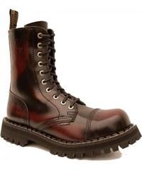 STEEL 10 dírkové red/black, dámská - pánská obuv