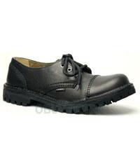 STEEL bez oceli 3dírkové black, obuv dámská - obuv pánská
