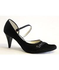 HILBY AN-615 black, dámské společenské lodičky - dámská obuv