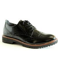 MARCO TOZZI 23709-35 black brush, dámské polobotky - dámská obuv