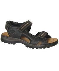 RIEKER 25063-00 black, pánské sandály vel.43