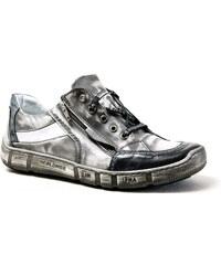 KACPER 1-4744 grey+white, pánské polobotky - pánská obuv
