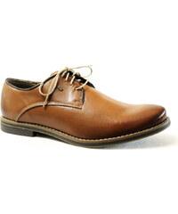 NIK Giatoma Niccoli NIK 04-0380-007 hnědá, pánské polobotky - pánská obuv