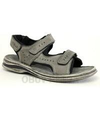 JOSEF SEIBEL 10112 Max 03 vulcano/schwarz, pánské sandály - pánská obuv