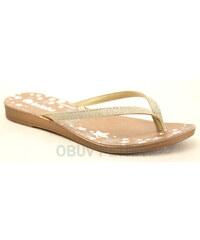 INBLU IR-50 zlaté, dámské žabky - dámská obuv
