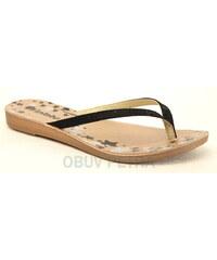 INBLU IR-50 černé, dámské žabky - dámská obuv