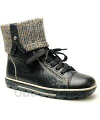 RIEKER Z8753-00 black, dámská zimní obuv
