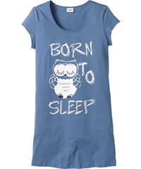 bpc bonprix collection Longshirt kurzer Arm in blau für Damen von bonprix
