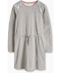 Esprit Teplákové šaty s pajetkami, bavlněná směs