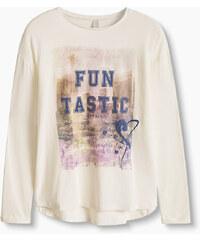 Esprit T-shirt manches longues en coton mélangé