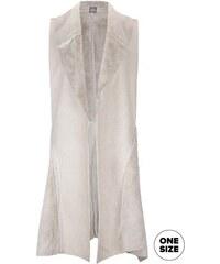 Krémová vesta s umělou kožešinou a kapsami ZOOT