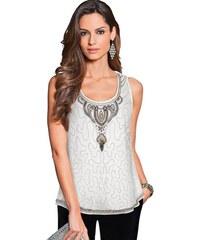 Damen Shirttop in Mesh-Qualität TOGETHER natur 36,38,40,42,44,46