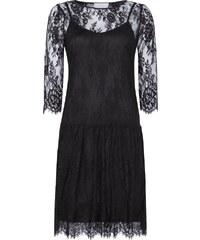 Neo Noir Kleid aus floraler Spitze