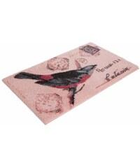 GRUND Badematte GRUND Birdmail Höhe 20 mm rutschhemmender Rücken Höhe 20mm rosa 1 (55x50 cm),2 (50x90 cm),3 (60x100 cm),4 (70x110 cm),5 (80x150 cm),6 (90x160 cm)