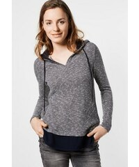 Damen CECIL Shirt im Lagenlook mit Hoody CECIL blau L (42),M (40),XL (44),XXL (46)
