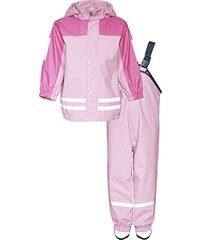 Playshoes Kinder Matschanzug, Regenanzug mit Fleece-Futter, Reflektoren, abnehmbare Kapuze