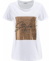 CORLEY Damen Corley T-Shirt mit Animal-Glitzerprint weiß 36,38,40,42,44,46,48