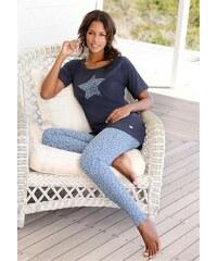 Buffalo Pyjama mit Leoleggings & Longshirt mit Sternprint blau 32/34,36/38,40/42,44/46,48/50,52/54,56/58