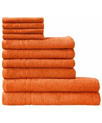 Handtuch Set Kristall mit feiner Bordüre Dyckhoff orange 10tlg.-Set (siehe Artikeltext)
