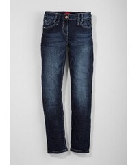 S.OLIVER RED LABEL JUNIOR RED LABEL Junior Suri: Stretch-Jeans mit Kontrastnaht für Mädchen blau M (152),M (158),S (140),S (146),XL (176),XS (128),XS (134)