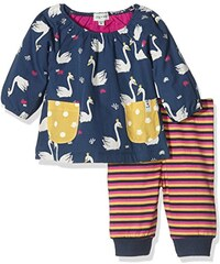 Lilly and Sid Baby-Mädchen Bekleidungsset Sweet Swan Tunic Dress Set
