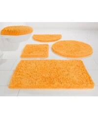 MÖVE Badematte 3-tlg. Hänge WC-Set Superwuschel Microfaser Höhe 40 mm rutschhemmender Rücken gelb 12 (3-tlg Hänge-WC-Set)