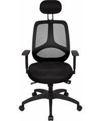 AMSTYLE Amstyle Chefsessel Florenz Deluxe schwarz