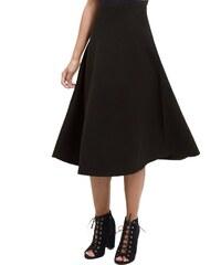 ELISE RYAN Černá midi sukně s vysokým pasem