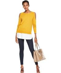 CLOSET Okrově žlutý svetr 2-v-1