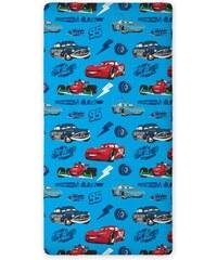 Faro Dětské bavlněné prostěradlo Cars, 90x200 cm - modré