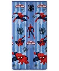 Faro Dětské bavlněné prostěradlo Spiderman, 90x200 cm - modré